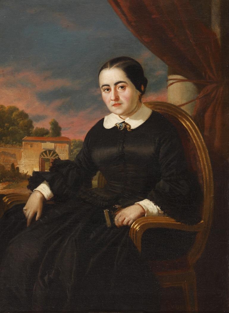 Retrato de la escritora y novelista Cecilia Böhl de Faber (1796-1877), de origen suizo y más conocida por su pseudónimo de Fernán Caballero .
