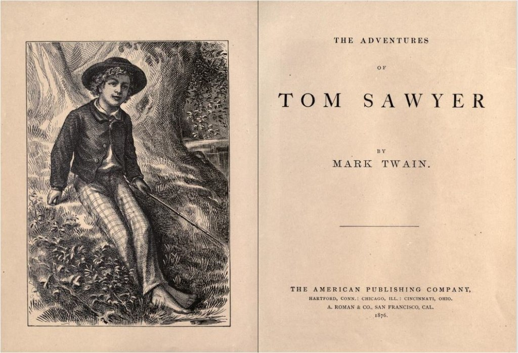 1024px The Adventures of Tom Sawyer. Mark Twain. 1876 1