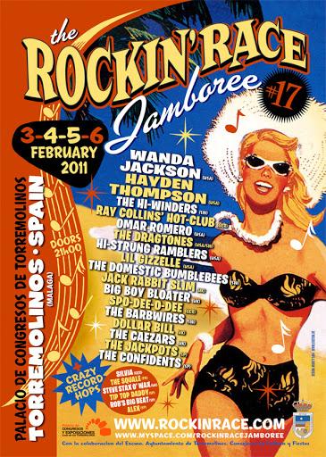 Cartel de la 17 edicion del festival Rockin Race Jamboree de Torremolinos