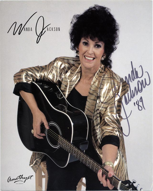 Foto firmada por Wanda en 1989
