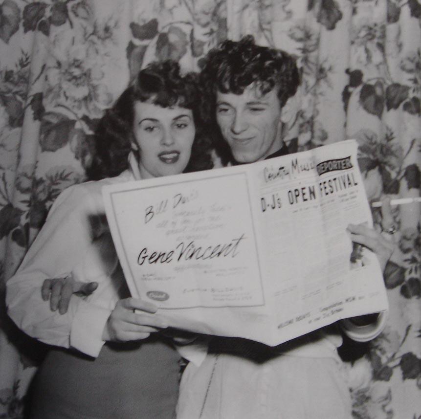 Wanda Jackson y Gene Vincent. Ambos fueron companeros en el sello Capitol ademas de compartir giras 1