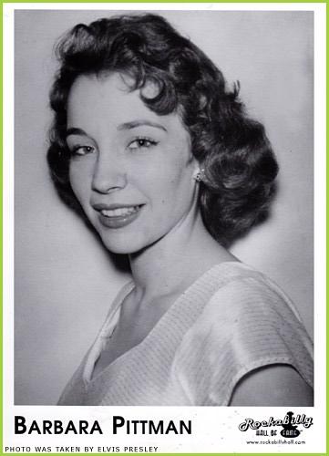 Barbara Pittman. La foto fue hecha por el propio Elvis