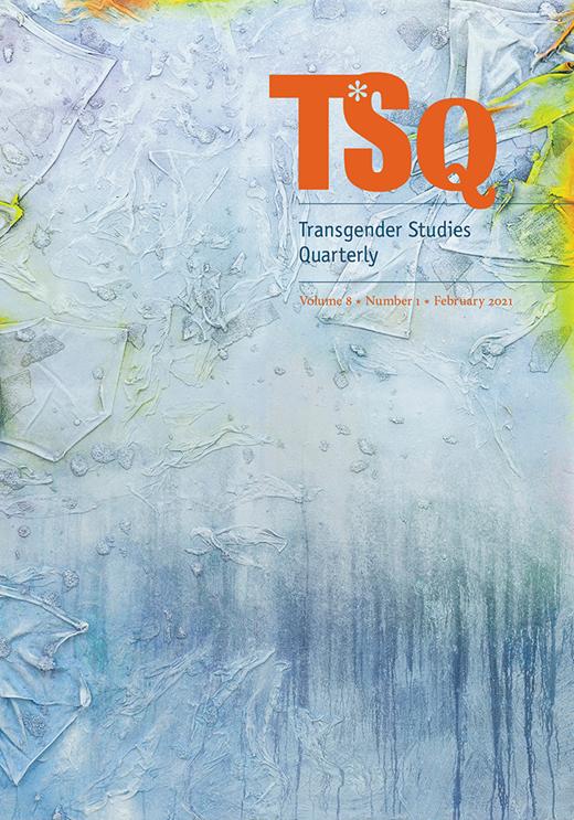 """""""TQS"""", primera revista dedicada al estudio de la transgeneridad desde una perspectiva cultural. Breve antología en papel celeste, rosa y blanco."""