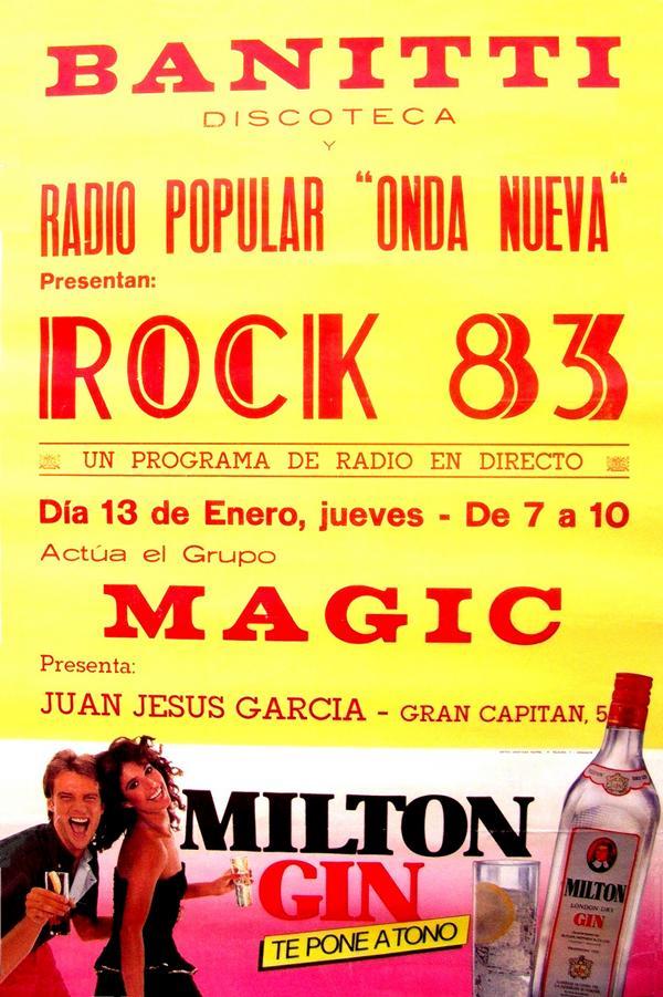 Los miércoles en los directos de Pólvora en la mítica discoteca Banitti. en esta ocasión con Magic. Gentileza de Juan Jesús Garcí. Rock and roll radio.