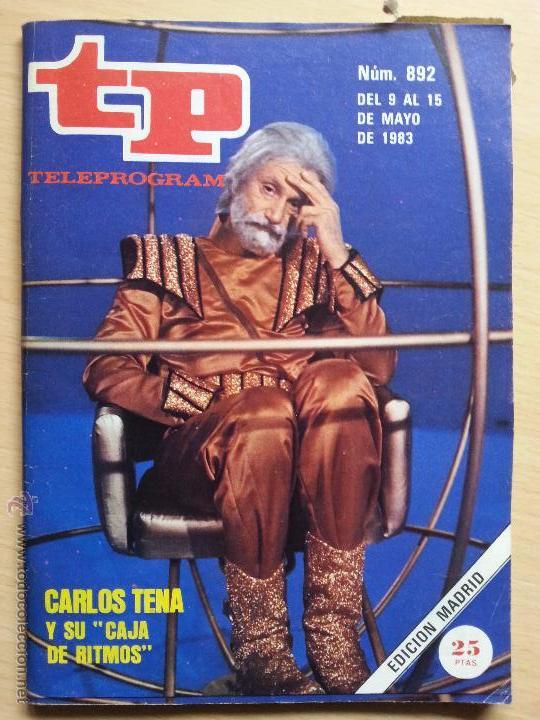 """Carlos Tena en la portada de TP tal y como iba caracterizado para presentar """"Caja de ritmos"""""""