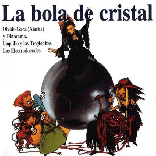 Portada del libro de La bola de cristal. Lolo Rico. Plaza & Janes. Música y televisión en España. Por Paco Burgos.